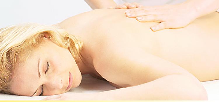 Back neck and shoulder aromatherapy massage